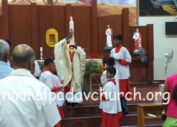 Easter vigil celebration held at Nirmalapadav, Parapady