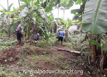 Nirmalpadav parishioners initiated cleaning of the church surroundings on behalf of nativity feast of Mother Mary