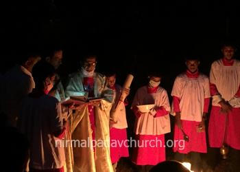Easter celebration at Our Lady of Perpetual Succour church, Nirmalpadav
